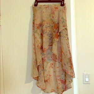 Beautiful high low Anthropologie skirt  XS